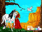 At ve Prenses Boyama Oyunu